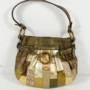 Limited Ed. COACH Mosaic Small Hobo Patchwork Bag